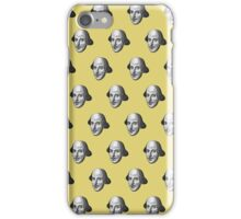 Shakespeare Etching Pattern (Yellow) iPhone Case/Skin