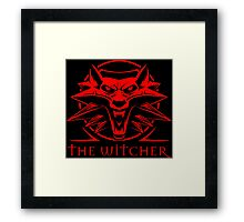 The Witcher Red Framed Print