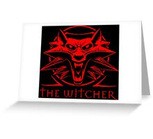 The Witcher Red Greeting Card