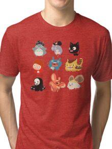 all caracter studio gibli Tri-blend T-Shirt