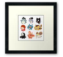 all caracter studio gibli Framed Print