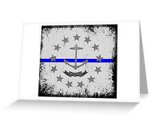 Blue Line Rhode Island State Flag Greeting Card