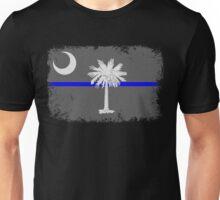 Blue Line South Carolina State Flag Unisex T-Shirt