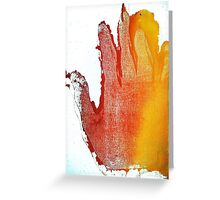 Orange Hand Greeting Card