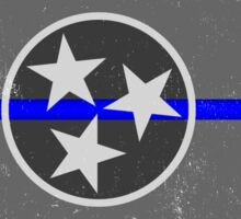 Blue Line Tennessee State Flag Sticker