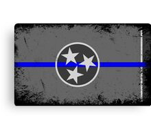 Blue Line Tennessee State Flag Canvas Print
