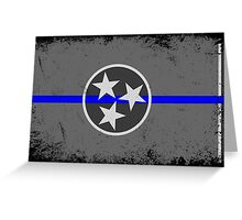Blue Line Tennessee State Flag Greeting Card