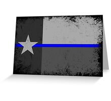 Blue Line Texas State Flag Greeting Card