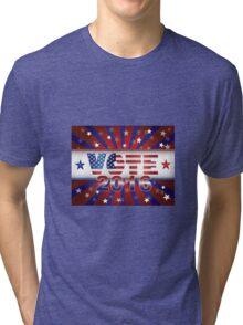 Vote 2016 Presidential Election On USA Flag Background Illustration Tri-blend T-Shirt