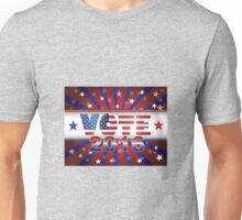 Vote 2016 Presidential Election On USA Flag Background Illustration Unisex T-Shirt
