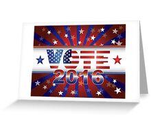 Vote 2016 Presidential Election On USA Flag Background Illustration Greeting Card