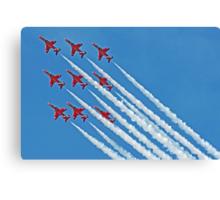 Red Arrows - Blue Sky - Farnborough 2014 Canvas Print
