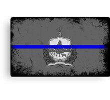 Blue Line Vermont State Flag Canvas Print