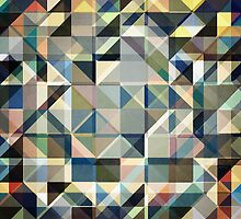 Abstract Earth Tone Grid by Phil Perkins