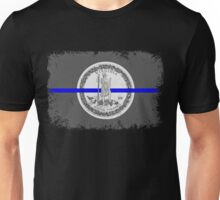 Blue Line Virginia State Flag Unisex T-Shirt