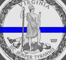 Blue Line Virginia State Flag Sticker