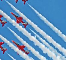 Red Arrows - Blue Sky - Farnborough 2014 Sticker