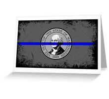 Blue Line Washington State Flag Greeting Card