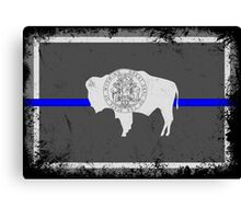 Blue Line Wyoming State Flag Canvas Print