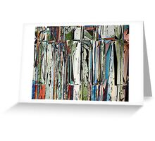 Abstract Piano Keys Greeting Card