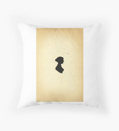 Jane Austen Silhouette (Small) Throw Pillow