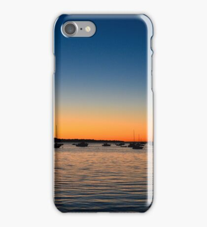 Boats on the Water in a Summer Sunset iPhone Case/Skin