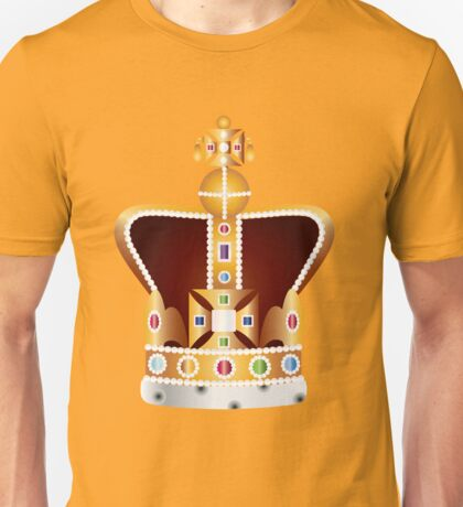 English Coronation Crown Jewels Illustration Unisex T-Shirt
