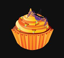 Halloween Cupcake with Spider and Candy Illustration Unisex T-Shirt