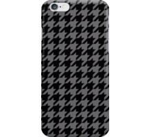 Dogtooth / Houndstooth grey iPhone Case/Skin