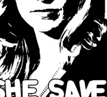 "BUFFY SUMMERS: ""She saved the world... A lot."" Sticker"