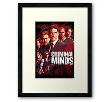criminal minds Framed Print