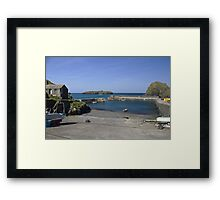 The Harbour at Mullion Cove Framed Print