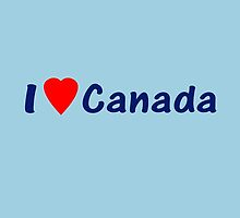 I Heart Canada ~ Love Country Code CA - T Shirt & Top by deanworld