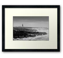 Hook Head Lighthouse on a stormy day, County Wexford, Ireland Framed Print