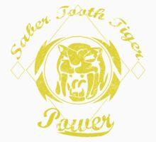 Saber Tooth Tiger Power Kids Tee