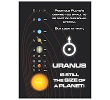 Uranus is the size of a planet Photographic Print