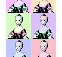 "Mozart and Marie ""Marie Antoinette Pastel Warhol Series"" by MozartandMarie"