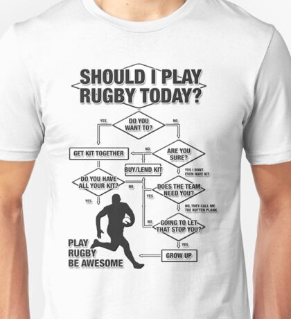 Should I Play Rugby Today? Unisex T-Shirt