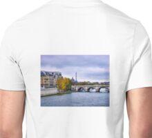 Pont Neuf View of Eiffel Tower  Unisex T-Shirt