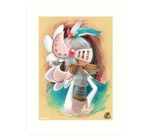 Miss Feather Knight Art Print