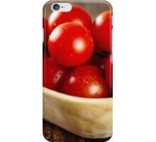 Cherry tomatoes closeup iPhone Case/Skin