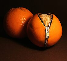 Zipped oranges by JBlaminsky