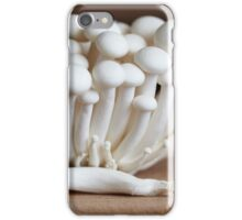 Shimeji mushrooms, hypsizygus tessellatus iPhone Case/Skin
