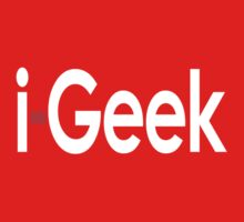 Cool iGeek T-Shirt, Fashion Top & Sticker Gift For Fun Kids Clothes