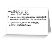 define: wallflower Greeting Card