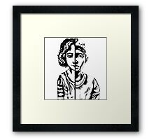 walking dead Clementine Framed Print