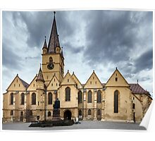 Medieval cathedral Poster