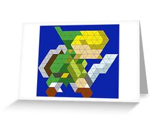 Link Triangle Design Greeting Card