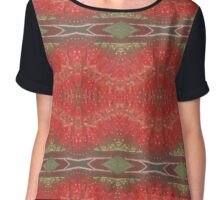 Bottle brush floral pattern Chiffon Top