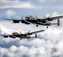 Flying Lancasters by James Biggadike